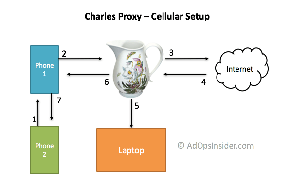 charles proxy cellular hardware setup